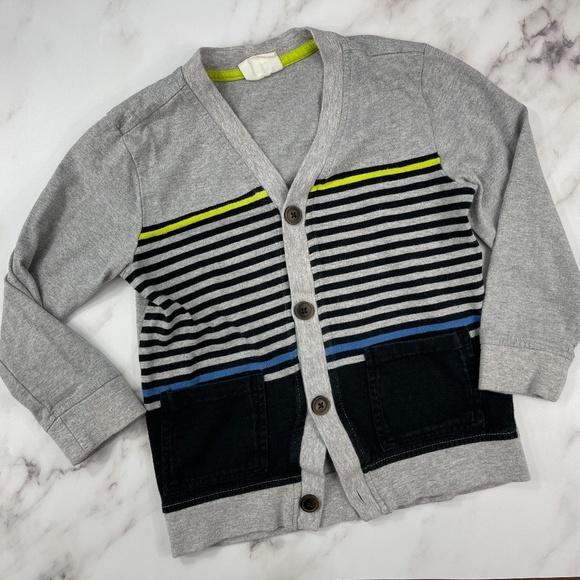 Toddler Boy Crazy8 Striped Button Down Cardigan